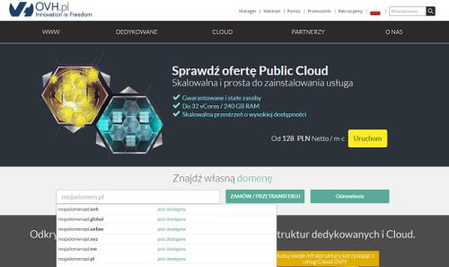 Jak kupić domenę internetową w ovh.pl